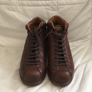 Gently worn Camper brown boots in size 44